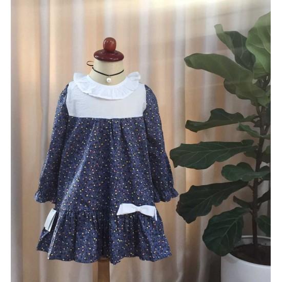 váy thu hoa đuôi cá trẻ em size 4-8