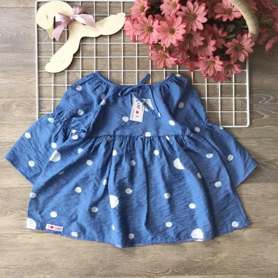 Áo váy thu dài tay tơ hoa size 2-6